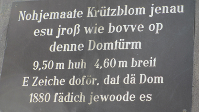 Kölscher Text Kreuzblume